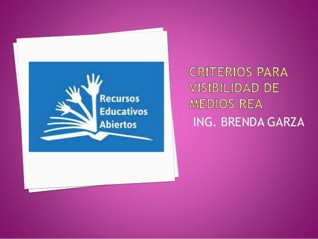 ING. BRENDA GARZA