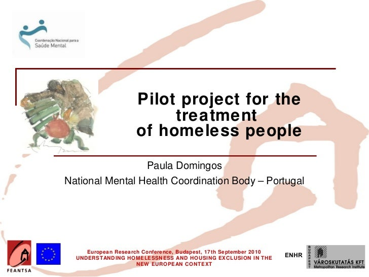 Pilot project for the                          treatment                     of homeless people                 Paula Domi...
