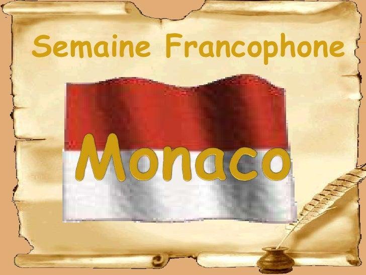 Semaine Francophone<br />Monaco<br />