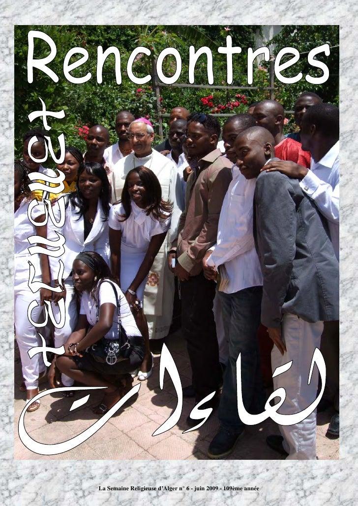 La Semaine Religieuse d'Alger n° 6 - juin 2009 - 109ème année