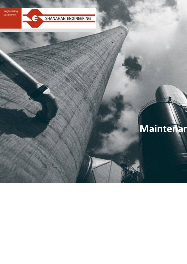 Maintenance Management            Presentation            January 2011