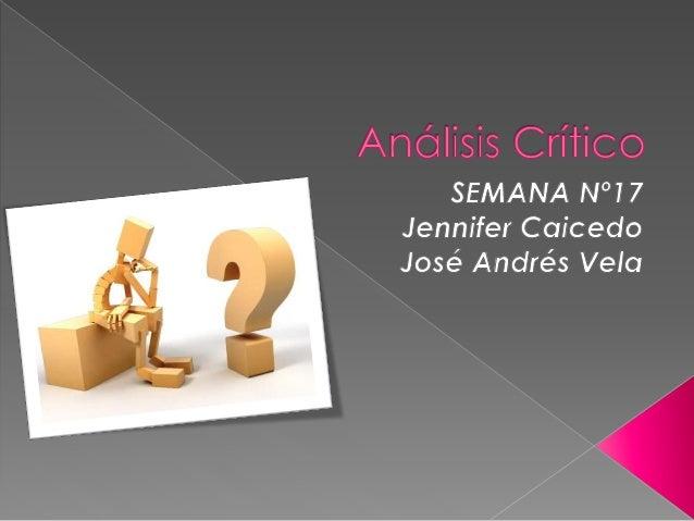Un análisis crítico examina un artículo u otro trabajo para determinar qué tan efectivamente una obra crea un argumento o...