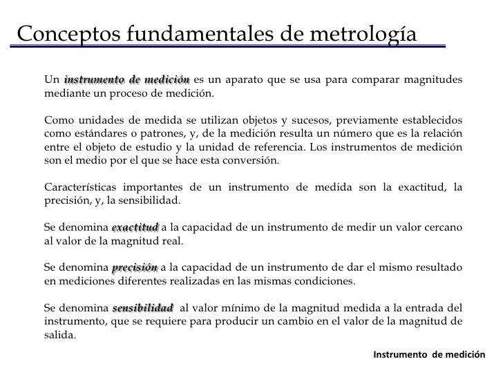 Conceptos fundamentales de metrología<br />Unidad de medida<br />