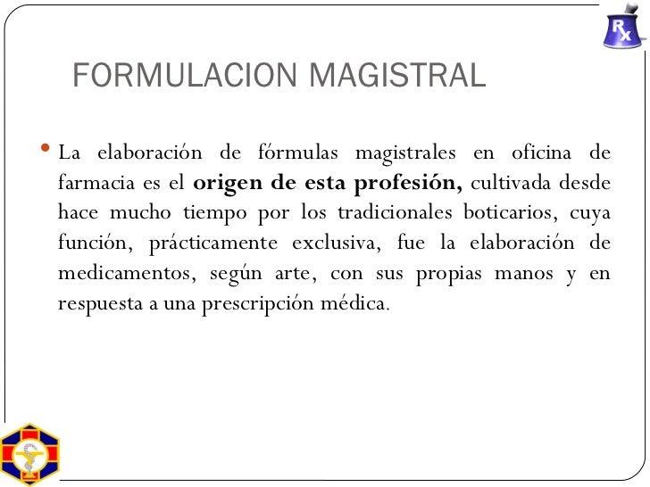 Historia de la farmacia y formulaci n magistral for Cuales son las caracteristicas de la oficina