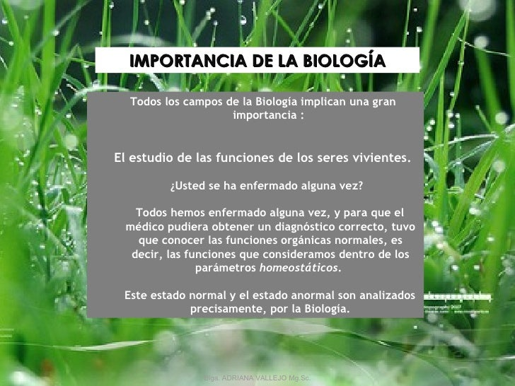Semana 2 biolog a concepto e importancia for Concepto de oficina y su importancia