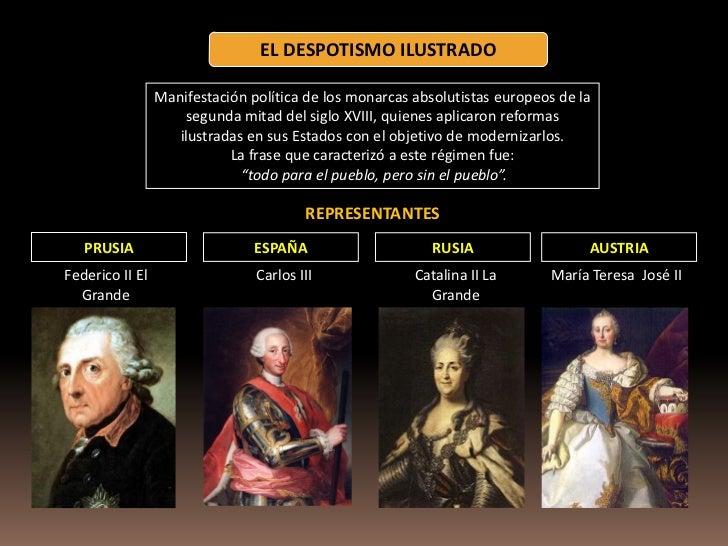 Principales representantes del despotismo ilustrado yahoo dating 1