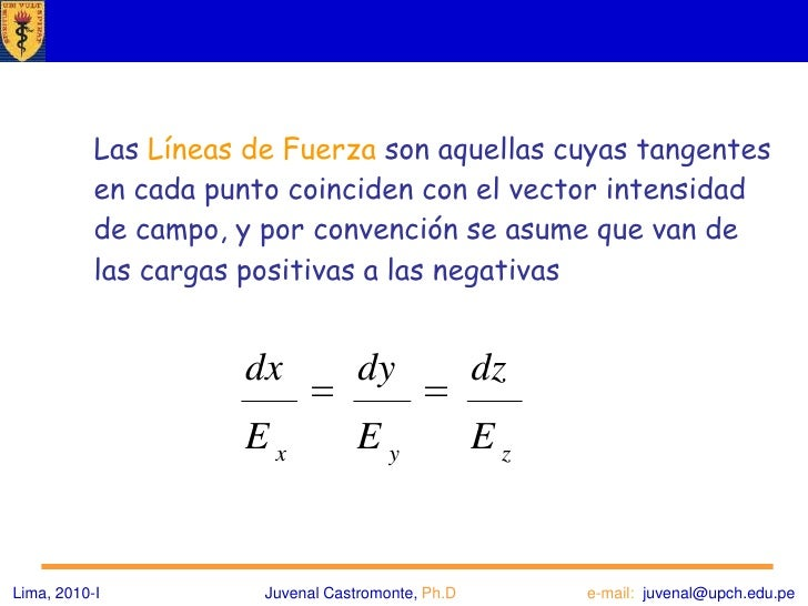 Líneas de Fuerza *<br />El campo eléctrico se puede definir de las maneras siguientes:<br /><ul><li>El primer método -el m...