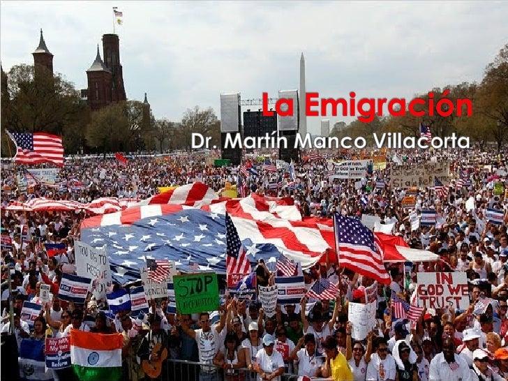  Mas de 3 millones de peruanos migraron del  Perú hacia diversos países. Hoy el Perú es un país de emigrantes que  expor...