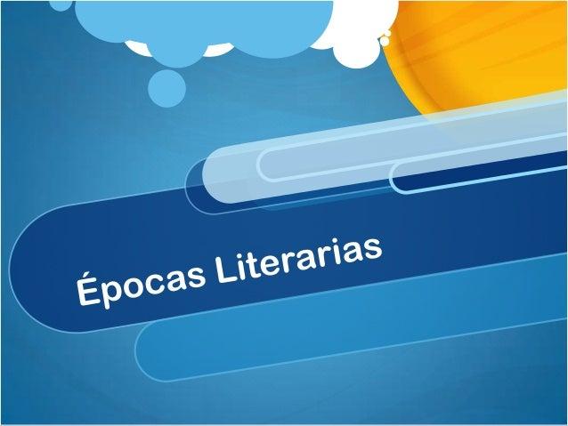 Semana 3: Épocas literarias Reconoce los movimientos de la Literatura antigua, moderna y contemporánea