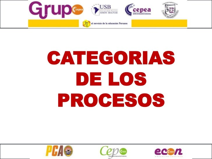 CATEGORIAS  DE LOS PROCESOS
