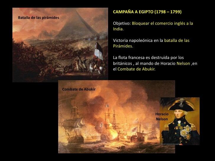 CAMPAÑA A EGIPTO (1798 – 1799)Batalla de las pirámides                                               Objetivo: Bloquear el...