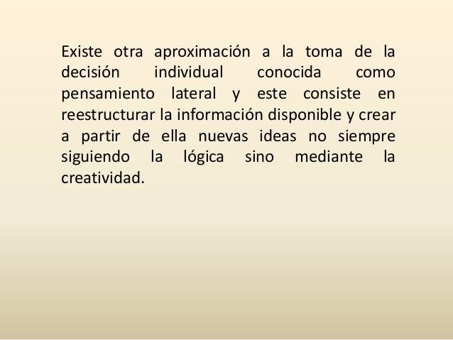 Decisión Individual y Colectiva Slide 3