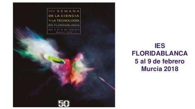 IES FLORIDABLANCA 5 al 9 de febrero Murcia 2018