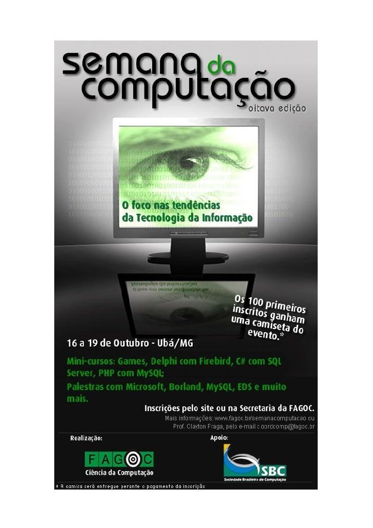 Semana da computação   anúncio