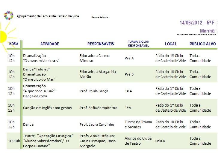 Semana da escola 2012