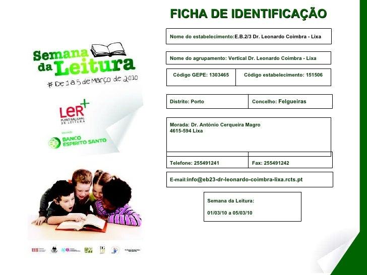 Semana da leitura E.B. Dr. Leonardo Coimbra