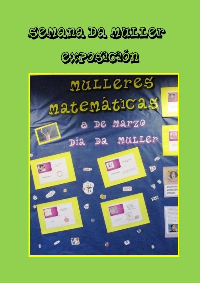 SEMANA DA MULLER EXPOSICIÓN