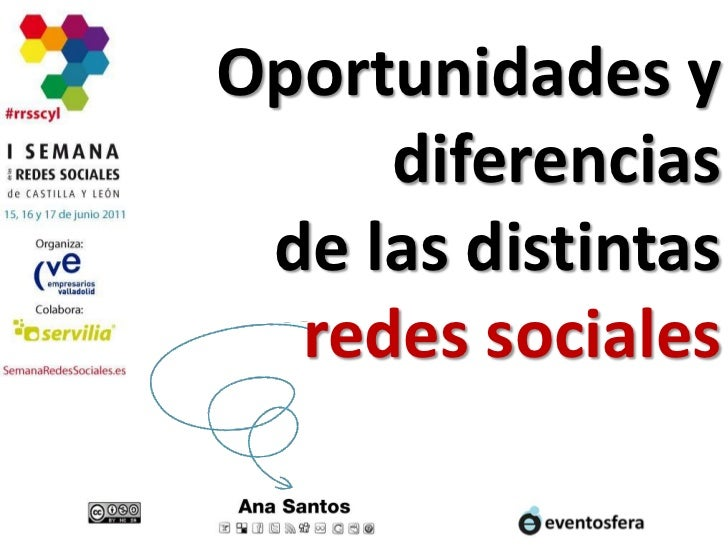 Oportunidades y diferencias de las distintas redes sociales<br />