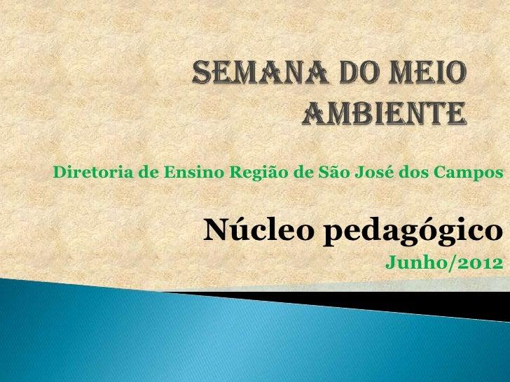 Diretoria de Ensino Região de São José dos Campos                Núcleo pedagógico                                    Junh...