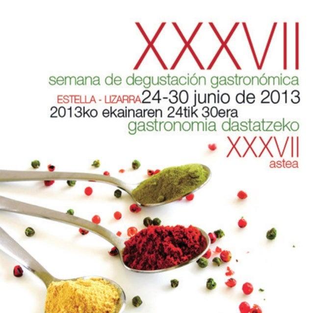 18  Semana  gastronómica estella lizarra  2013