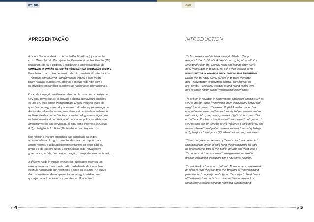p. 5 A Escola Nacional de Administração Pública (Enap) juntamente com o Ministério do Planejamento, Desenvolvimento e Gest...