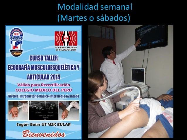 NUEVA MODALIDAD Semanal escuela de ecografía musculoesquelética y articular Slide 2
