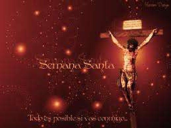 INDICESEMANA SANTACONCEPTO DE SEMANA SANTADOMINGO DE RAMOSLUNES SANTOMARTES SANTOMIERCOLES SANTOJUEVES SANTOSABADO...