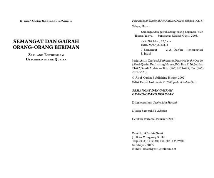 BismiLlaahirRahmaanirRahiim   Perpustakaan Nasional RI: Katalog Dalam Terbitan (KDT)                                Yahya,...