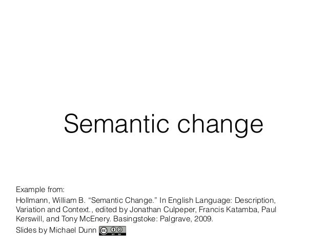 what is semantic change