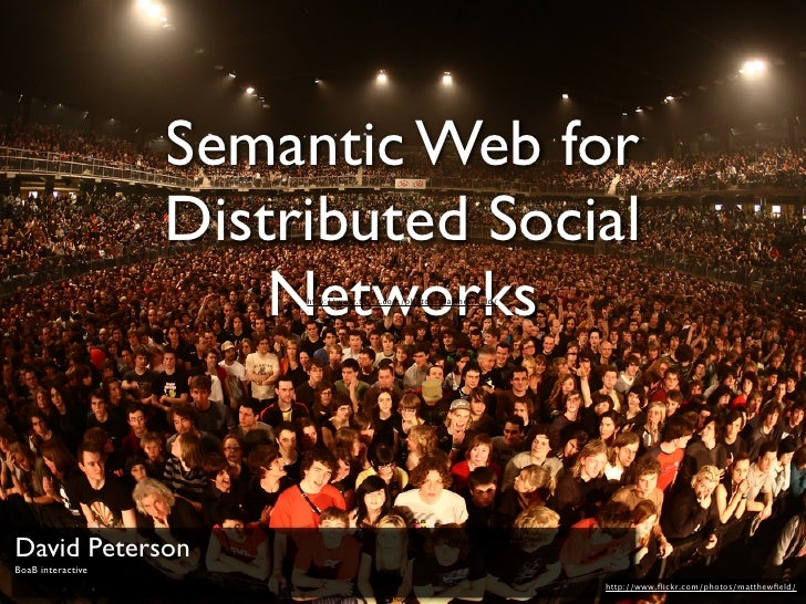 Semantic Web for                    Distributed Social                        Networks                         http://www....