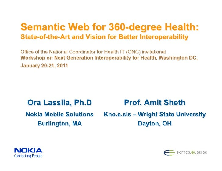 Semantic Web for 360-degree Health: State-of-the-Art & Vision for Better Interoperability