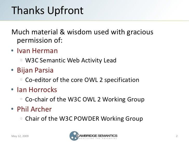 Semantic Web Landscape 2009 Slide 2