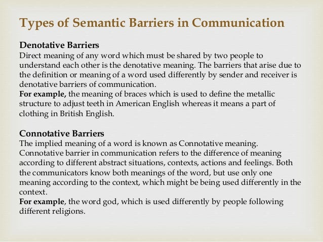 meaning of semantic barriers