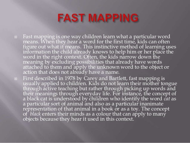 fast mapping definition adriftskateshop