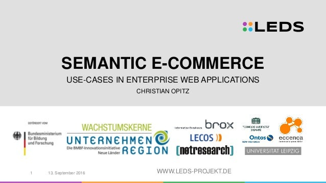 WWW.LEDS-PROJEKT.DE SEMANTIC E-COMMERCE USE-CASES IN ENTERPRISE WEB APPLICATIONS CHRISTIAN OPITZ 13. September 20161