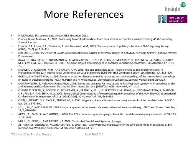 More  References   • David  S.  Rosenblum  and  Alexander  L.  Wolf.  1997.  A  design  framework...