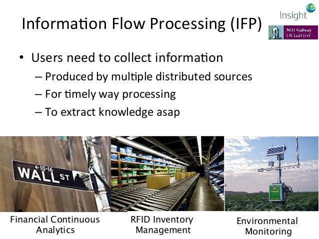 InformaKon  Flow  Processing  (IFP)   • Processing  informaKon  as  it  flows   –No  intermediate  ...