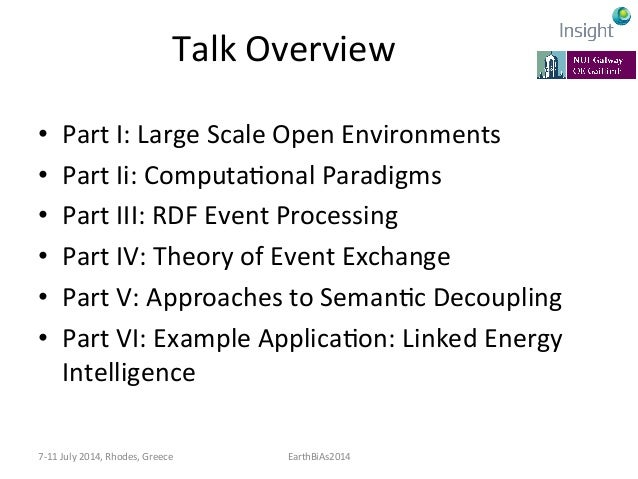 Talk  Overview   • Part  I:  Large  Scale  Open  Environments   • Part  Ii:  ComputaKonal  Paradig...