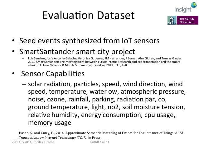 EvaluaKon  Dataset   • Seed  events  synthesized  from  IoT  sensors   • Linked  Energy  Intelligenc...