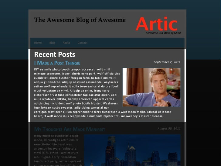 An <article> is a piece of stand-   alone