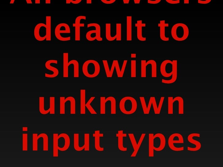"Range<input type=""range"" name=""volume"" />Provides a set of valuesThe slider allows you to pick oneNot terribly preciseTake..."