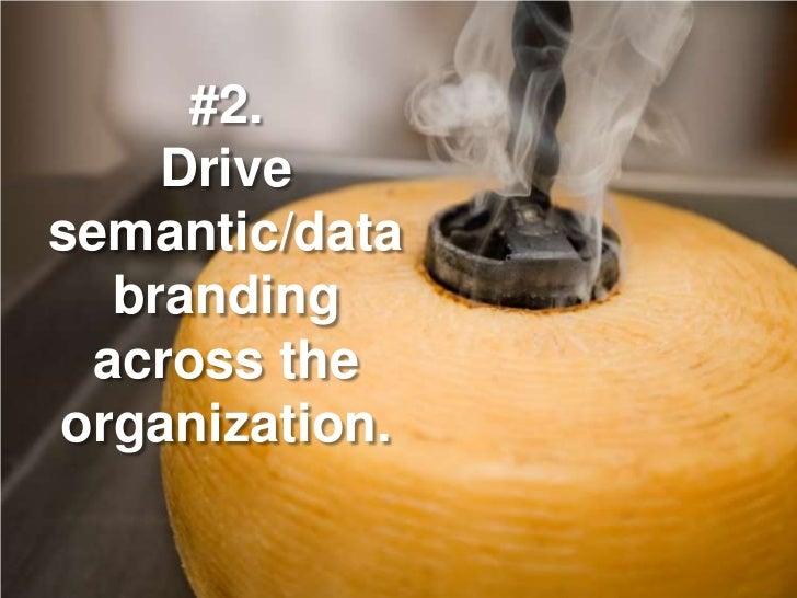 #2.     Drive semantic/data   branding  across the organization.