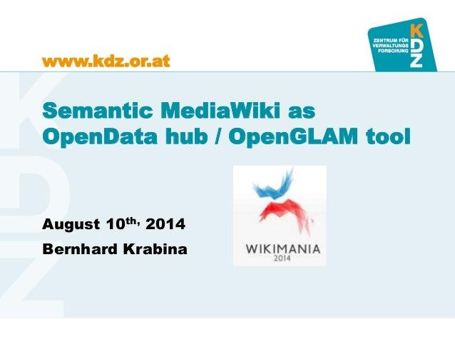 Semantic MediaWiki as OpenData Hub and OpenGLAM tool