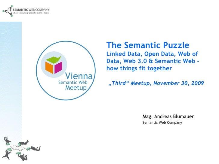 Mag. Andreas Blumauer Semantic Web Company   The Semantic Puzzle  Linked Data, Open Data, Web of Data, Web 3.0 & Semantic ...