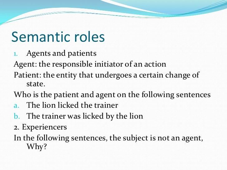 semantic roles week 6