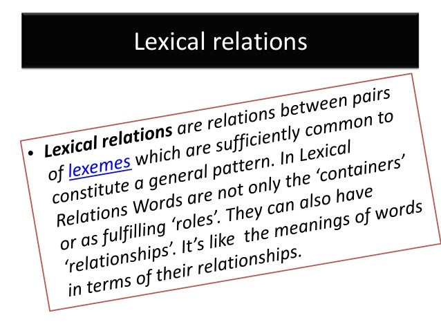 lexical relations and its application on  u0026quot the kite u0026quot