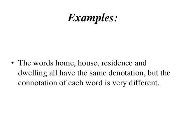 Semantics Connotation And Dennotation