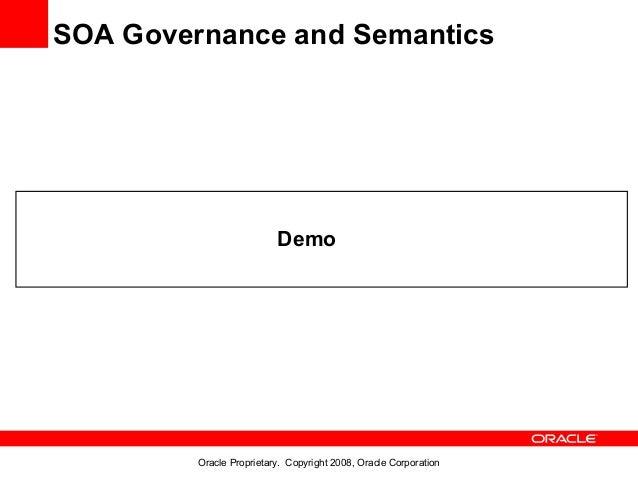SOA Governance and Semantics                          Demo         Oracle Proprietary. Copyright 2008, Oracle Corporation