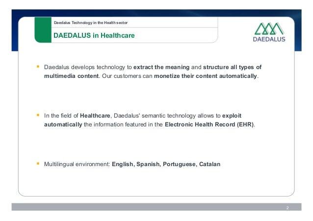 Semantic Technologies for Healthcare Slide 2