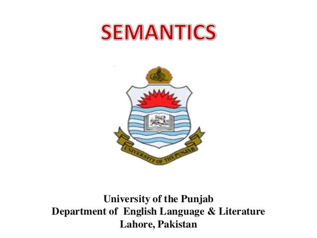 University of the PunjabDepartment of English Language & LiteratureLahore, Pakistan